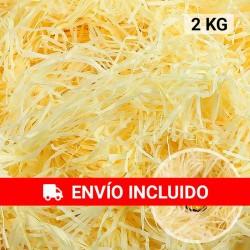 Virutas papel kraft (2 kg) amarillo, relleno para decoración y embalaje
