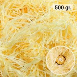 500 gr. de virutas de papel kraft amarillo, relleno para decoración y embalaje