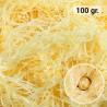 100 gr. de papel kraft amarillo en virutas, relleno para decoración y embalaje