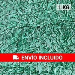 1 KG de papel kraft verde agua en virutas, relleno para decoración y embalaje