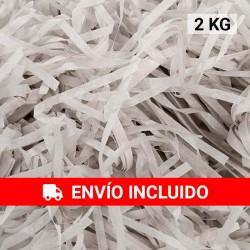 2 KG de papel kraft gris en virutas, relleno para decoración y embalaje