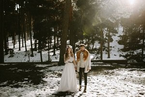 El frío dará ese toque mágico a tu boda...