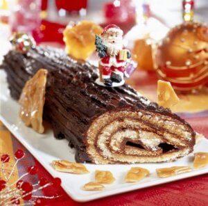 Este pastel en forma de tronco es tradición francesa.