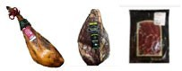 Jambons et charcuteries, provenant d'Estrémadure de cochon ibérique