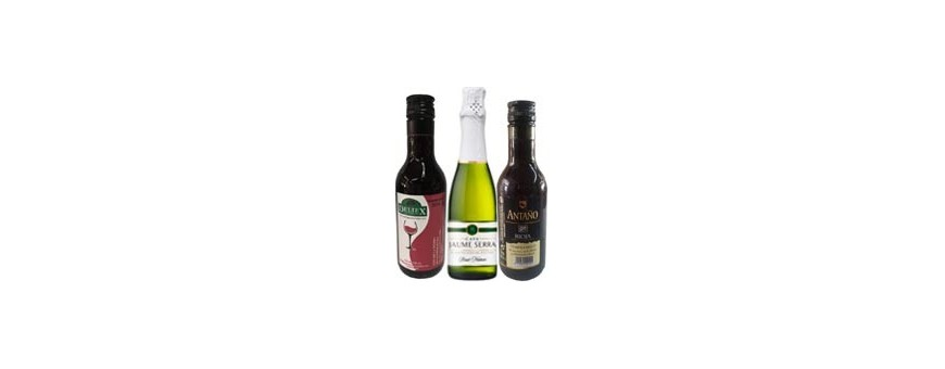 ▷ Botellas Miniaturas de Vinos para regalos de invitados Bodas