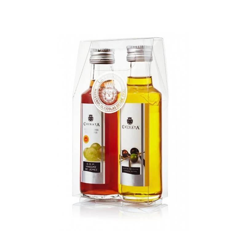 Estuche regalo para bodas, aceite de oliva y vinagre