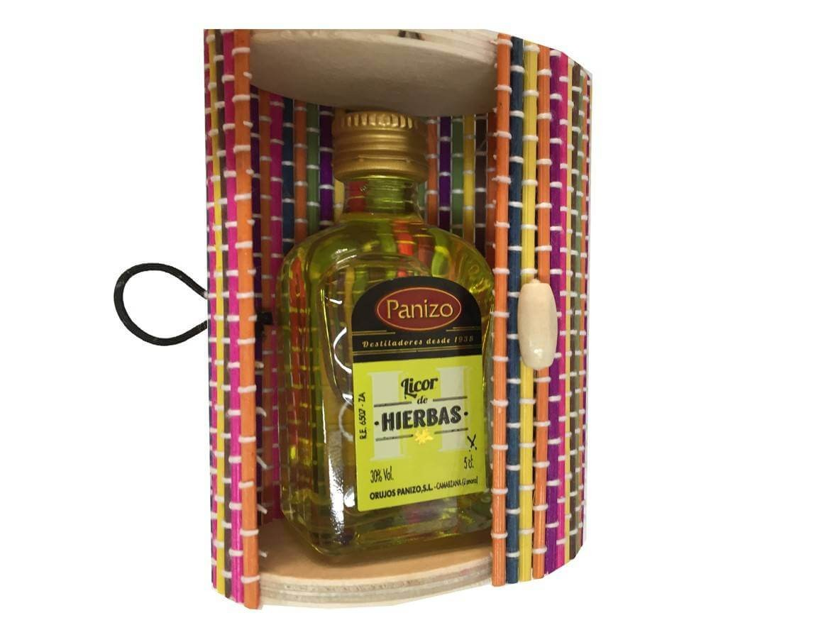 Herbs Panizo liquor with miniature trunk