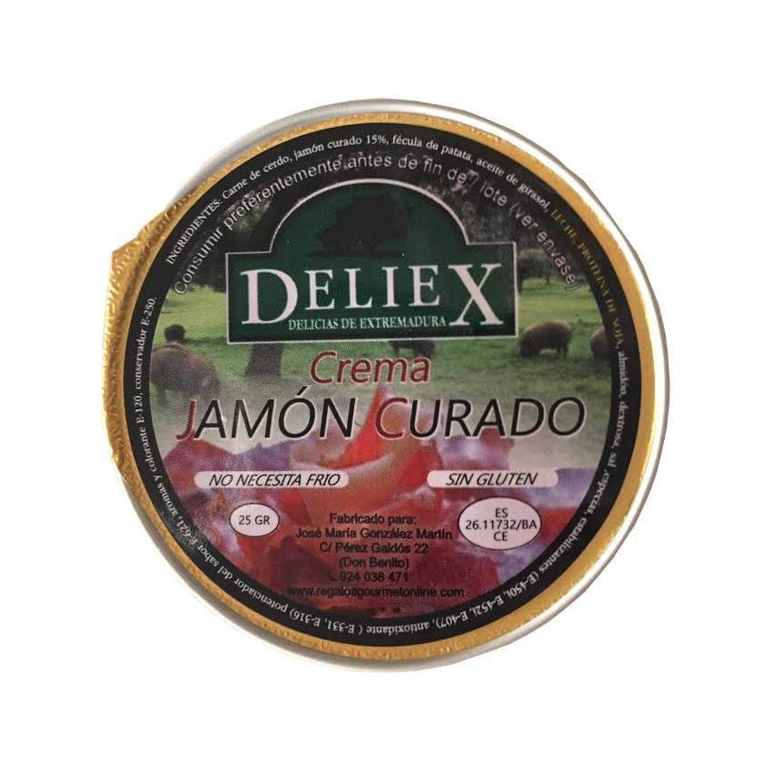 Cream of cured ham single dose 25gr Deliex
