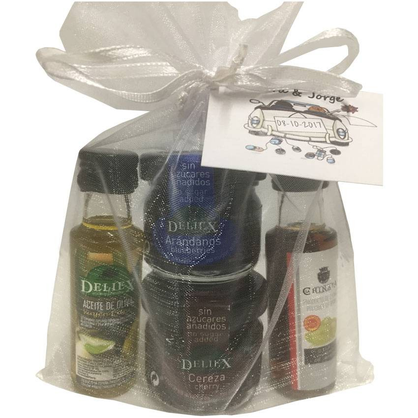 Gift gourmet natural homemade jams, no added suggar, for weddings