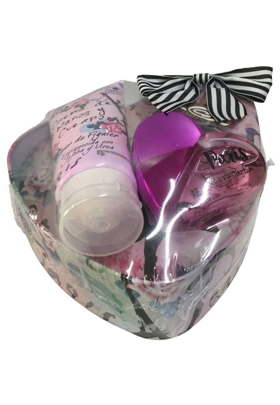 Large heart shaped cosmetic gift tin