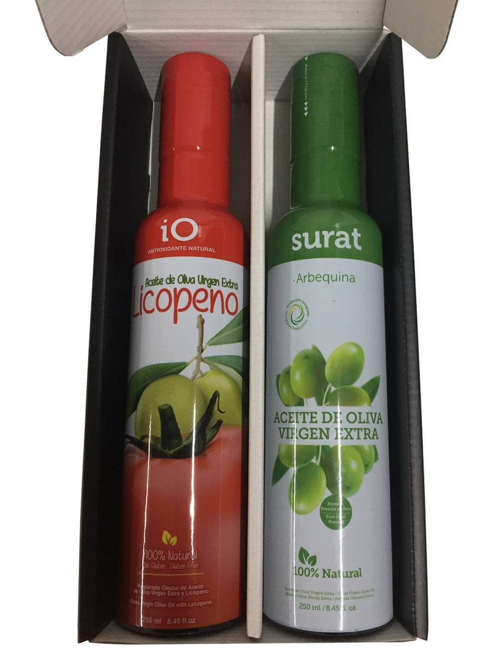 Gift box with two oils Lycopene and Surat Virgen Extra