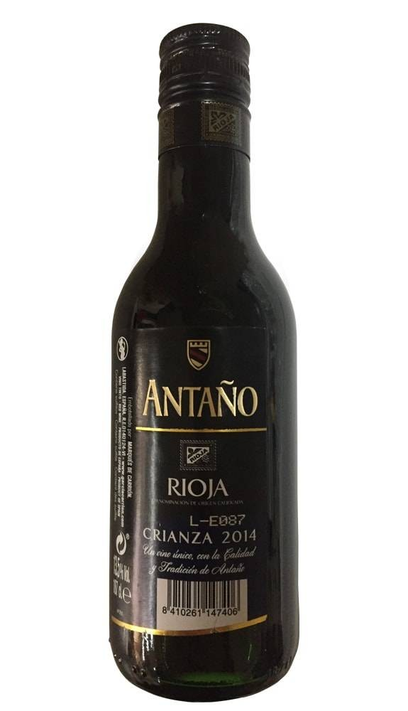 Wine rioja crianza Antaño for weddings