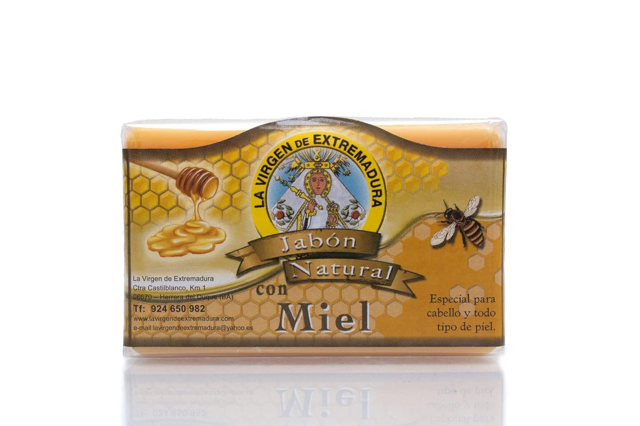 Jabón natural de miel de flores