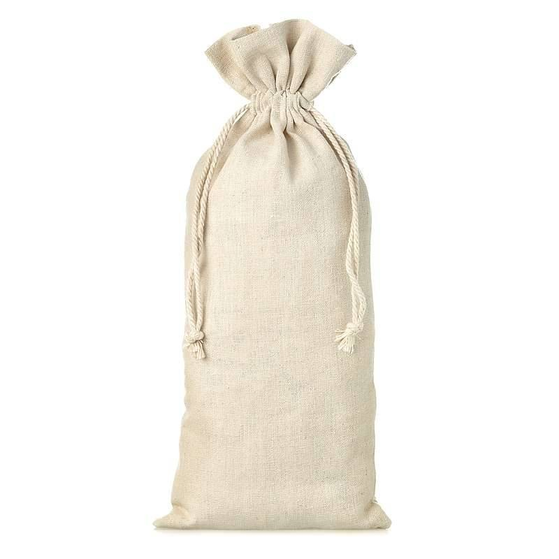 Natural beig linen bag 11 x 20 cm