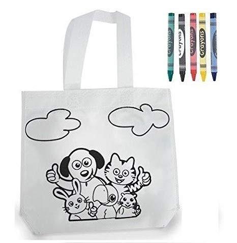 Kids Animal Bag Coloring.