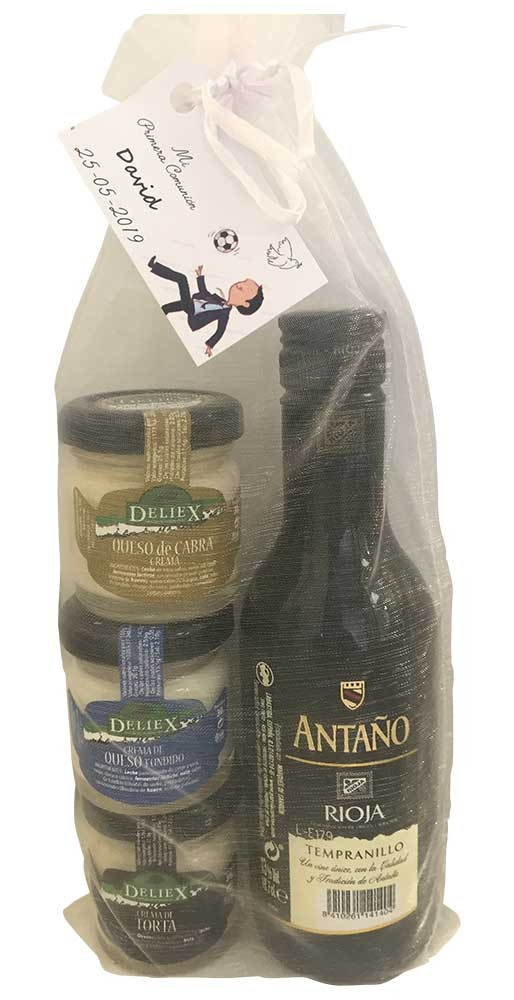 Pack wine antaño for souvenir guest.