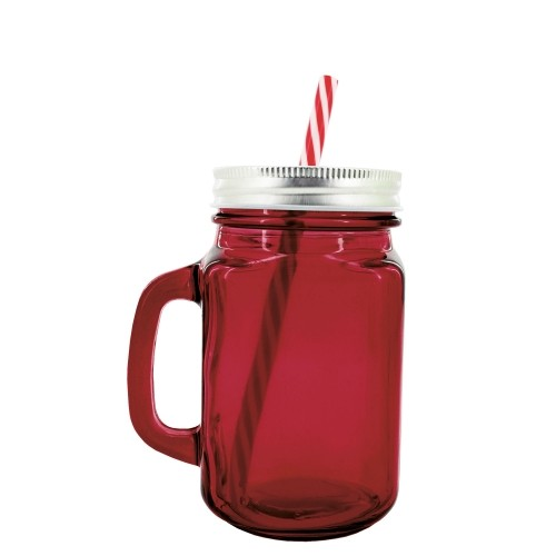 Red jug with sorbet.