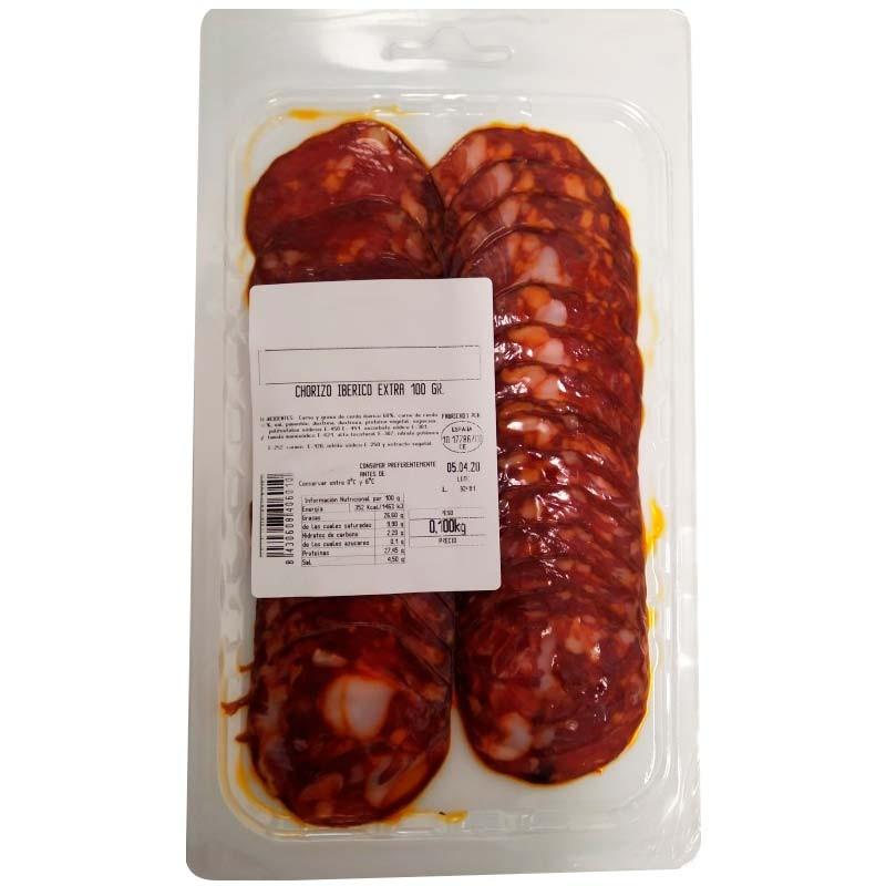 Chorizo Ibérico en lonchas