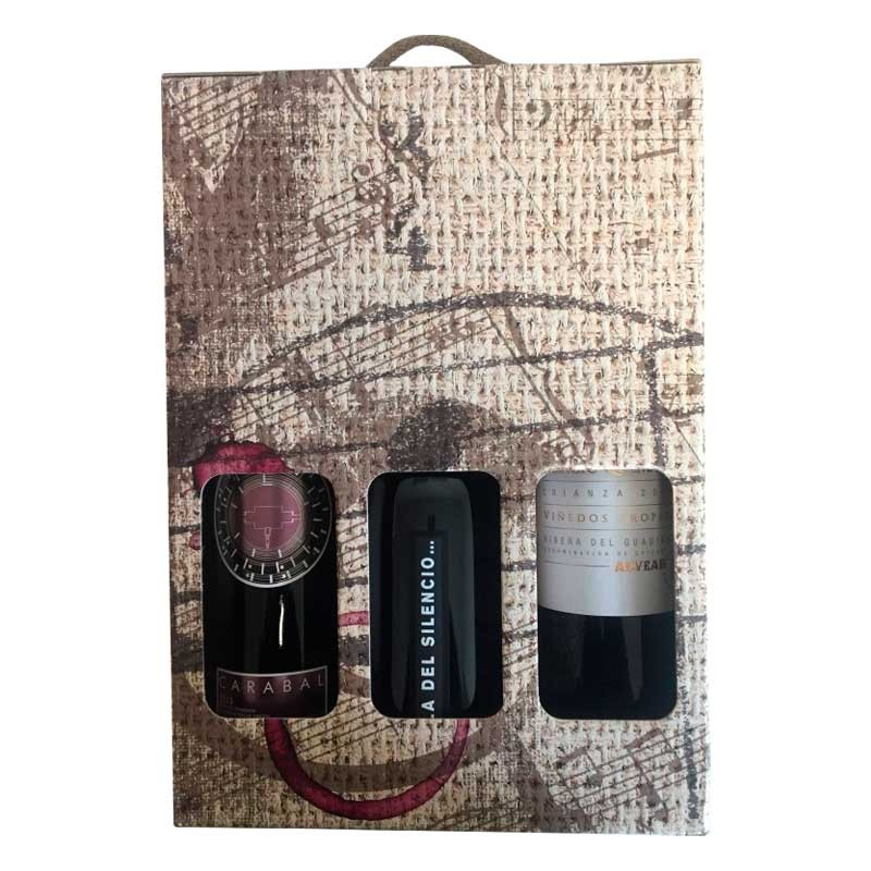 Case for gift with extremaduran wine